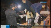 South Korean workers load computers into the back of a truck after returning from the Kaesong Industrial Zone, in this image from KBS TV on April 30, 2013.