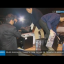 South Korean workers load computers into the back of a truck after returning from the Kaesong Industrial Zone, in this image from KBS TV