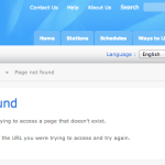 This error message greets Internet users attempting to access Voice of Korea broadcasts on the WRN site.