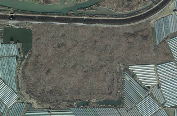 A satellite image of the transmitter site shown on Daum Maps