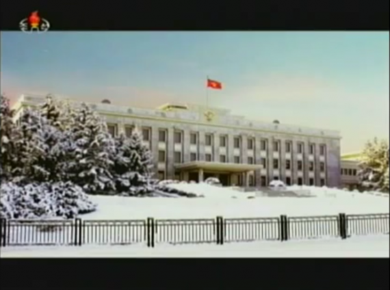 The still image used in Kim Jong Un's 2013 new year broadcast (KCTV screengrab)