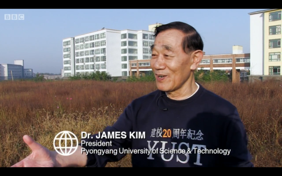 James Kim, president and founder of Pyongyang University of Science and Technology, interviewed by BBC's Panorama