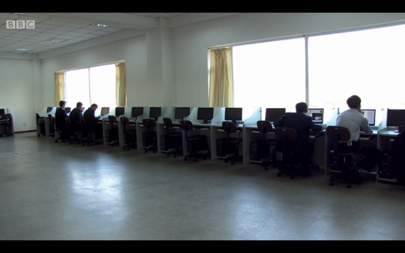 The Internet access room at Pyongyang University of Science and Technology
