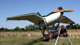 Launch of the Sky-09P drone on a slingshot system (Photo: China TranComm Technologies)