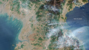 Fires burning across North Korea are shown in this image from NASA's Aqua satellite captured on April 25, 2014.