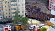 Site of Pyongyang building collapse as shown by KCNA.