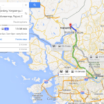 The route from Seoul to Imjingak as shown on Google Maps (NorthKoreaTech)
