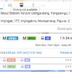 There are no driving directions available via Google Maps in South Korea (NorthKoreaTech)