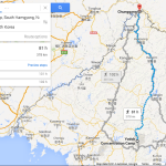 A route from North Korea's Yodok concentration camp to the border with China, as mapped by Google (NorthKoreaTech)