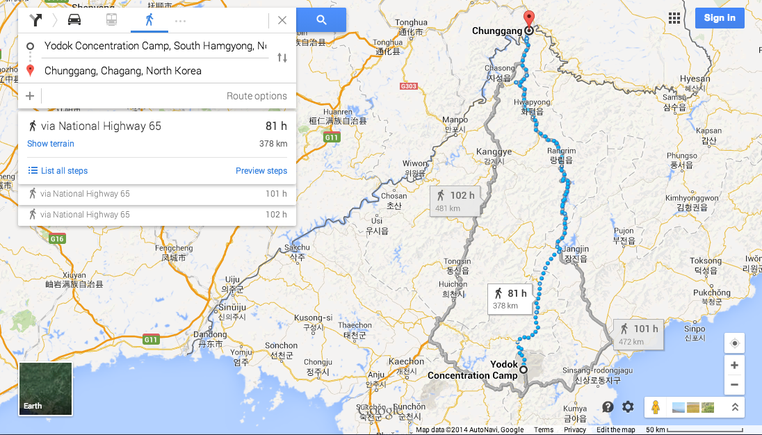 North Korea Driving Instructions Come To Google Maps