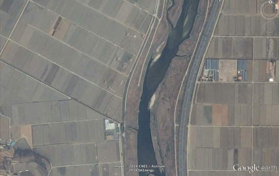 A transmitter site in Hawsong, south of Seoul, that is said to be home to a South Korean intelligence service radio station (Google/NorthKoreaTech)