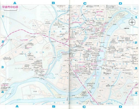 A map of Pyongyang