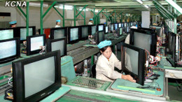Taedonggang TV factory is shown in this image carried by Korean Central News Agency on September 20, 2011.