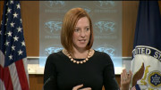 Jen Psaki, spokeswoman for the U.S. State Dept., answers questions at a briefing on July 16, 2014.