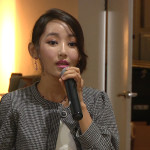 Park Yeon Mi, a defector from North Korea, speaks to attendees at the Hack North Korea event in San Francisco on August 2, 2014