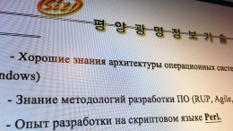 A portion of a proposal from the Pyongyang Kwangmyong IT Corp. presented to Russia's APKIT. (Photo: North Korea Tech)
