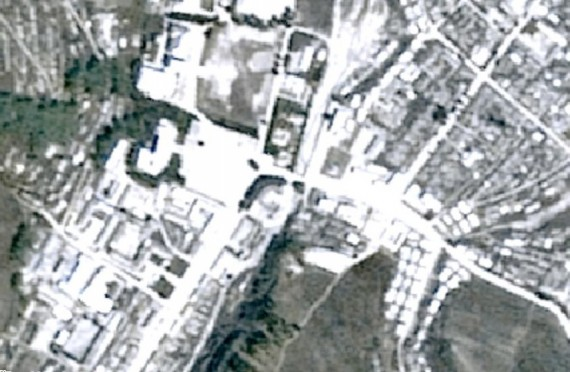 The town of Chasong, North Korea, as shown on Daum Maps on August 29, 2014.