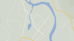 The downtown area of Chasong, as shown on Daum Maps on August 30, 2014.