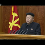 Kim Jong Un delivers his New Year address on January 1, 2015 (Photo: Korean Central Television)
