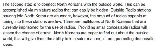 Sending small radios into North Korea was another goal of the campaign (Photo: North Korea Tech)