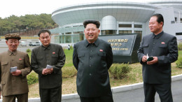 Kim Jong Un visits North Korea's General Satellite Control and Command Centre in this undated picture carried by KCNA on May 3, 2015.