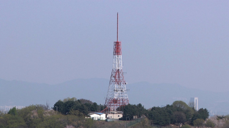 A radio broadcasting tower in Seoul, South Korea, on April 29, 2010 (Photo: North Korea Tech)