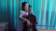 A young girl performs music in Pyongyang on an undisclosed date