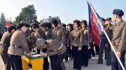Propaganda pictures of young recruits 'joining the army' ran on state media over the weekend. (Photo: KCNA Watch)