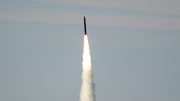A long-range ground-based interceptor is launched from Vandenberg Air Force Base, CA, on Jan. 28, 2016. (Photo: Leah Garton/US Missile Defense Agency)