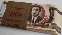 North Korean banknotes and money