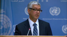 U.N. spokesman Farhan Haq speaks at a news conference on Feb. 3, 2016. (Photo: UN/NKT)