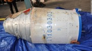 A suspected rocket fairing from North Korea's satellite launcher retrieved by South Korean military (Photo: Korea MND)