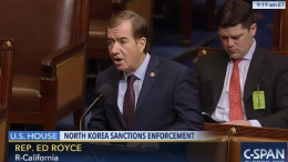 Ed Royce (R-Calif.) speaks on the floor of the U.S. House of Representatives on Feb. 12, 2016. (Photo: C-SPAN/North Korea Tech)