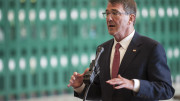Defense Secretary Ash Carter speaks to reporters at Nellis Air Force Base in Nevada on Feb. 4, 2016. (Photo: Siuta Ika/USAF)
