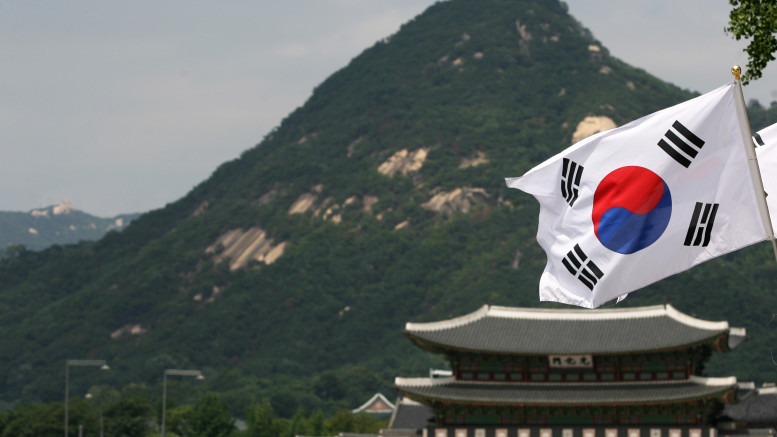 The South Korean flah flies in Seoul on August 14, 2012. (Photo: Korea Culture and Information Service)