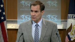 U.S. State Department spokesman John Kirby speaks at a news conference on July 6, 2016. (Photo: State Dept.)