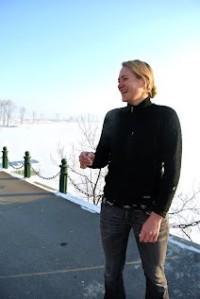 Sophie Schmidt in Pyongyang, in an image from her blog