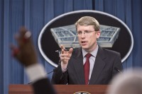David F. Helvey, deputy assistant secretary of defense for East Asia, briefs reporters about the military and security developments involving China during a news conference at the Pentagon, May 6, 2013. DOD photo by Marine Corps Sgt. Aaron Hostutler.