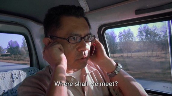 "Jiro Ishimaru of Asiapress in a scene from ""Secret State of North Korea"""