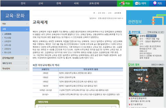 A political biography page from the North Korea Information Portal