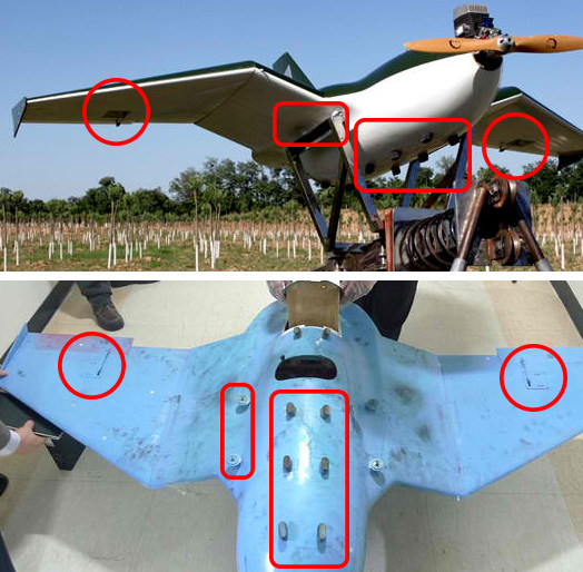 Similarities are highlighted between the Sky-09P drone and a drone found crashed in South Korea.