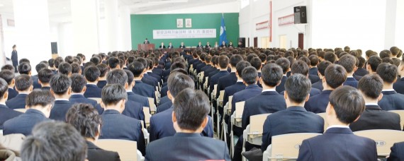 Students attend a graduation ceremony at the Pyongyang University of Science and Technology on November 19, 2014 (Photo: PUST)