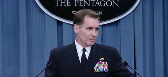 U.S. Department of Defense spokesman John Kirby speaks at a news conference on December 19, 2014. (Photo: DOD)