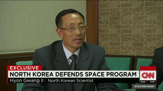 Hyon Gwang Il, a scientist at North Korea's space administration, is seen in a CNN interview aired on July 2, 2014. (Photo: NorthKoreaTech screengrab)