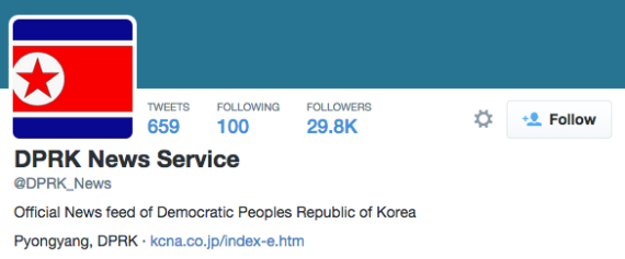 The DPRK News Service account on Twitter claims to be an official news source (Photo: North Korea Tech)