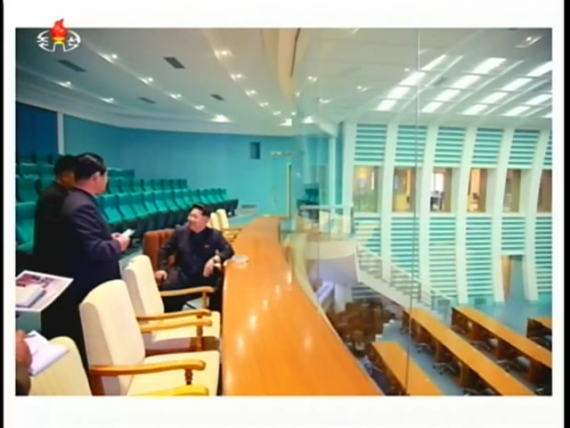 The control room in the General Satellite Command Centre, seen in images broadcast by Korean Central Television on May 3, 2015. (Photo: KCTV/North Korea Tech)