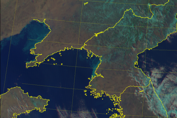 Clear skies over North Korea on Feb. 7th seen in this Himawari-8 image (Photo: JMA)
