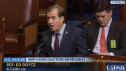 Ed Royce (R-Calif.) speaks on the floor of the U.S. House of Representatives on Feb. 12, 2016. (Photo: C-SPAN/North Korea Tech)