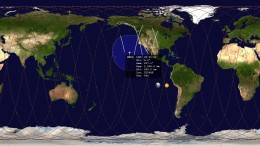 The path North Korea's Kwangmyongsong-4 satellite is taking in space, a day after launch, based on data issued by the U.S. military (Graphic: North Korea Tech)