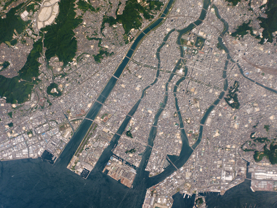 Hiroshima, Japan, captured by a Planet Labs Dove satellite on Aug. 6, 2015 (Photo: Planet Labs)